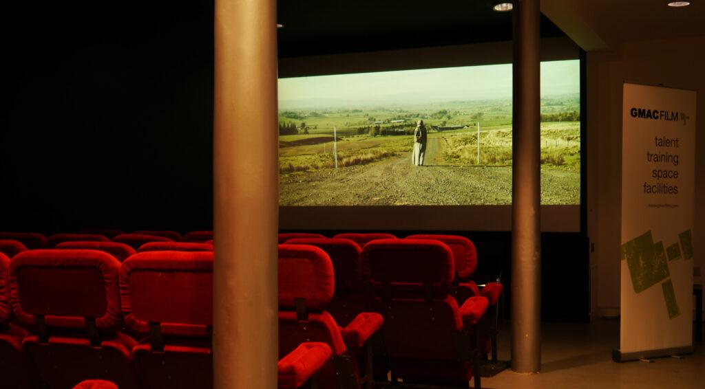 Cinema screen and chairs